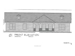 3901 Vail Lane, Bryan, Texas - Front Elevation
